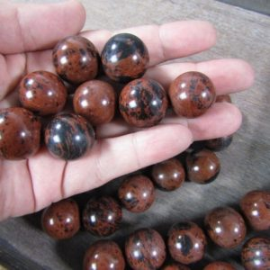 Shop Mahogany Obsidian Shapes! Mahogany Obsidian Sphere 22 mm S5   Natural genuine stones & crystals in various shapes & sizes. Buy raw cut, tumbled, or polished gemstones for making jewelry or crystal healing energy vibration raising reiki stones. #crystals #gemstones #crystalhealing #crystalsandgemstones #energyhealing #affiliate #ad