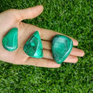 Shop Malachite Shapes! Malachite Palm Stone 25-40mm | Natural genuine stones & crystals in various shapes & sizes. Buy raw cut, tumbled, or polished gemstones for making jewelry or crystal healing energy vibration raising reiki stones. #crystals #gemstones #crystalhealing #crystalsandgemstones #energyhealing #affiliate #ad