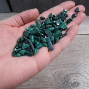 Shop Tumbled Malachite Crystals & Pocket Stones! Malachite Tumbled Chip Stone Small Bag T256 | Natural genuine stones & crystals in various shapes & sizes. Buy raw cut, tumbled, or polished gemstones for making jewelry or crystal healing energy vibration raising reiki stones. #crystals #gemstones #crystalhealing #crystalsandgemstones #energyhealing #affiliate #ad