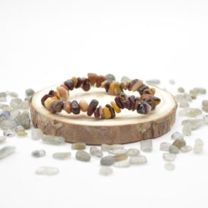 """Shop Mookaite Jasper Chip & Nugget Beads! Natural Mookite / Mookaite Semi-precious Gemstone Chip / Nugget Beads Sample Strand / Bracelet – 5mm – 8mm, Approx 7.5""""   Natural genuine chip Mookaite Jasper beads for beading and jewelry making.  #jewelry #beads #beadedjewelry #diyjewelry #jewelrymaking #beadstore #beading #affiliate #ad"""