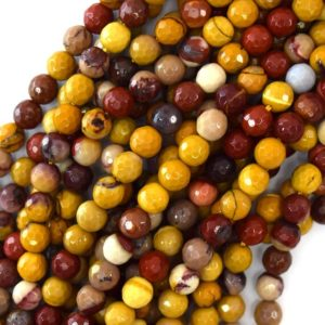 """Shop Mookaite Jasper Faceted Beads! 6mm faceted mookaite round beads 15.5"""" strand mookite 36665 