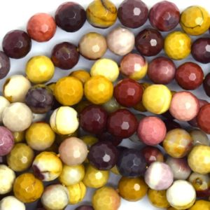 """Shop Mookaite Jasper Faceted Beads! 8mm faceted mookaite round beads 15.5"""" strand mookite 36664 