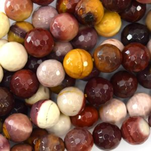 """Shop Mookaite Jasper Faceted Beads! Natural Faceted Mookaite Round Beads 15.5"""" Strand 3mm 4mm 6mm 8mm 10mm 12mm 