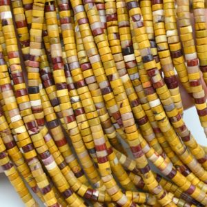 Shop Mookaite Jasper Bead Shapes! 2x4mm Mookaite Rondelle Beads, heishi Gemstone Beads, for Jewelry Making Beads, wholesale Loose Beads, for Bracelet Beads / necklace Beads.   Natural genuine other-shape Mookaite Jasper beads for beading and jewelry making.  #jewelry #beads #beadedjewelry #diyjewelry #jewelrymaking #beadstore #beading #affiliate #ad