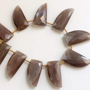 Shop Moonstone Necklaces! 11x25mm Chocolate Moonstone Faceted Horn Shape Beads, Natural Chocolate Moonstone Fancy Shape Beads, Moonstone Necklace 10 Pcs – PDG55A | Natural genuine Moonstone necklaces. Buy crystal jewelry, handmade handcrafted artisan jewelry for women.  Unique handmade gift ideas. #jewelry #beadednecklaces #beadedjewelry #gift #shopping #handmadejewelry #fashion #style #product #necklaces #affiliate #ad