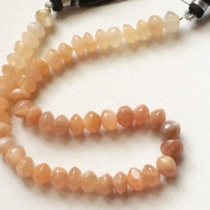 Shop Moonstone Rondelle Beads! 7-7.5mm Peach Moonstone Fancy Rondelle, Moonstone Plain Button Beads, Moonstone  For Jewelry, 4 Inch Strand – KS30   Natural genuine rondelle Moonstone beads for beading and jewelry making.  #jewelry #beads #beadedjewelry #diyjewelry #jewelrymaking #beadstore #beading #affiliate #ad
