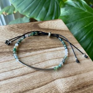 Shop Moss Agate Bracelets! Adjustable Moss Agate Bracelet, Crystal Bracelet, Crystal Jewelry, Gemstone Jewelry | Natural genuine Moss Agate bracelets. Buy crystal jewelry, handmade handcrafted artisan jewelry for women.  Unique handmade gift ideas. #jewelry #beadedbracelets #beadedjewelry #gift #shopping #handmadejewelry #fashion #style #product #bracelets #affiliate #ad
