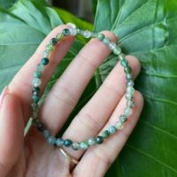 Moss Agate Bracelet, Minimalist Bracelet, Crystal Bracelet, Gemstone, Crystal Beaded Bracelet, Jewelry With Meaning | Natural genuine Gemstone jewelry. Buy crystal jewelry, handmade handcrafted artisan jewelry for women.  Unique handmade gift ideas. #jewelry #beadedjewelry #beadedjewelry #gift #shopping #handmadejewelry #fashion #style #product #jewelry #affiliate #ad