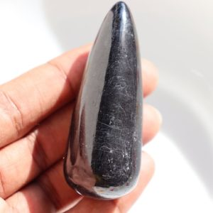 Natural Black Tourmaline Crystal bullet shape, Yoni Massage Wand | Yoni stone, Pleasure Wand, Healing Crystals and Stones, christmas gift | Natural genuine stones & crystals in various shapes & sizes. Buy raw cut, tumbled, or polished gemstones for making jewelry or crystal healing energy vibration raising reiki stones. #crystals #gemstones #crystalhealing #crystalsandgemstones #energyhealing #affiliate #ad