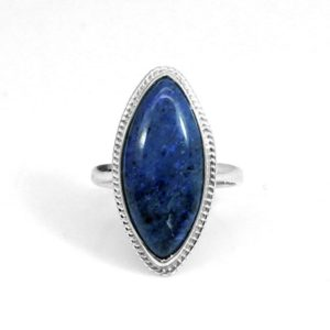 Shop Dumortierite Rings! Natural Dumortierite Ring – Marquise Silver Ring – Blue Stone Ring – 925 Sterling Silver Ring – Handmade Ring – Everyday Ring – Gift For Her | Natural genuine Dumortierite rings, simple unique handcrafted gemstone rings. #rings #jewelry #shopping #gift #handmade #fashion #style #affiliate #ad