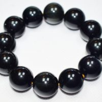 Black Obsidian Bracelet 18m Beads | Natural genuine Gemstone jewelry. Buy crystal jewelry, handmade handcrafted artisan jewelry for women.  Unique handmade gift ideas. #jewelry #beadedjewelry #beadedjewelry #gift #shopping #handmadejewelry #fashion #style #product #jewelry #affiliate #ad