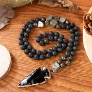 Shop Obsidian Necklaces! Black Obsidian Lava Stone Strength Necklace-healing Balance Calming Necklace-spiritual Protection Meditation Anxiety Stress Relief Necklace   Natural genuine Obsidian necklaces. Buy crystal jewelry, handmade handcrafted artisan jewelry for women.  Unique handmade gift ideas. #jewelry #beadednecklaces #beadedjewelry #gift #shopping #handmadejewelry #fashion #style #product #necklaces #affiliate #ad