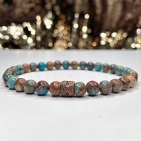 Ocean Jasper 6mm Bracelet For Men, Women,  Encourage A Feeling Of Joy And Elevated Spirits | Natural genuine Gemstone jewelry. Buy handcrafted artisan men's jewelry, gifts for men.  Unique handmade mens fashion accessories. #jewelry #beadedjewelry #beadedjewelry #shopping #gift #handmadejewelry #jewelry #affiliate #ad