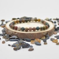 """Natural Ocean Jasper Semi-precious Gemstone Round Beads Sample Strand / Bracelet – 6mm Or 8mm Sizes, Approx 7.5""""   Natural genuine Gemstone jewelry. Buy crystal jewelry, handmade handcrafted artisan jewelry for women.  Unique handmade gift ideas. #jewelry #beadedjewelry #beadedjewelry #gift #shopping #handmadejewelry #fashion #style #product #jewelry #affiliate #ad"""