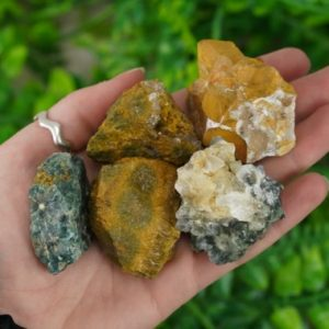 Shop Raw & Rough Ocean Jasper Stones! Large Raw Ocean Jasper Rough Crystal Orbicular Jasper | Natural genuine stones & crystals in various shapes & sizes. Buy raw cut, tumbled, or polished gemstones for making jewelry or crystal healing energy vibration raising reiki stones. #crystals #gemstones #crystalhealing #crystalsandgemstones #energyhealing #affiliate #ad