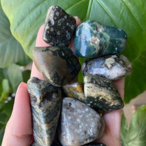 Tumbled Ocean Jasper , Ocean Jasper , Chakra Stone, Marovato, Old Stock | Natural genuine stones & crystals in various shapes & sizes. Buy raw cut, tumbled, or polished gemstones for making jewelry or crystal healing energy vibration raising reiki stones. #crystals #gemstones #crystalhealing #crystalsandgemstones #energyhealing #affiliate #ad