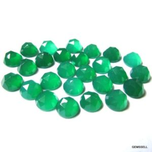 Shop Onyx Shapes! 5 pieces 8mm Green Onyx Rosecut Round Loose Gemstone, Green Onyx Round Rosecut AAA Quality gemstone | Natural genuine stones & crystals in various shapes & sizes. Buy raw cut, tumbled, or polished gemstones for making jewelry or crystal healing energy vibration raising reiki stones. #crystals #gemstones #crystalhealing #crystalsandgemstones #energyhealing #affiliate #ad