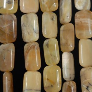 Shop Opal Bead Shapes! 18x13mm Yellow Opal Gemstone Honey Yellow Rectangle Loose Beads 8 inch Half Strand (90185531-857) | Natural genuine other-shape Opal beads for beading and jewelry making.  #jewelry #beads #beadedjewelry #diyjewelry #jewelrymaking #beadstore #beading #affiliate #ad