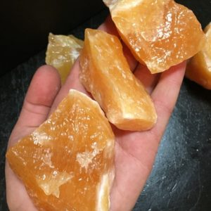"""Orange calcite (medium 2"""" – 3"""") – rough orange calcite – raw orange calcite – healing crystals and stones – positive energy – chakra stone   Natural genuine stones & crystals in various shapes & sizes. Buy raw cut, tumbled, or polished gemstones for making jewelry or crystal healing energy vibration raising reiki stones. #crystals #gemstones #crystalhealing #crystalsandgemstones #energyhealing #affiliate #ad"""