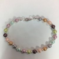 Pastel Pearl Bracelet, Pastel Pearl Gemstone Bracelet, Gemstone Bracelet , August Birthstone Bracelet | Natural genuine Gemstone jewelry. Buy crystal jewelry, handmade handcrafted artisan jewelry for women.  Unique handmade gift ideas. #jewelry #beadedjewelry #beadedjewelry #gift #shopping #handmadejewelry #fashion #style #product #jewelry #affiliate #ad