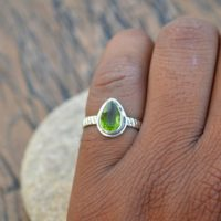 Peridot Gemstone Ring, 925 Sterling Silver Ring, August Birthstone Gift Ring, Birthstone Ring, Designer Band Peridot Ring, Tiny Peridot Ring | Natural genuine Gemstone jewelry. Buy crystal jewelry, handmade handcrafted artisan jewelry for women.  Unique handmade gift ideas. #jewelry #beadedjewelry #beadedjewelry #gift #shopping #handmadejewelry #fashion #style #product #jewelry #affiliate #ad