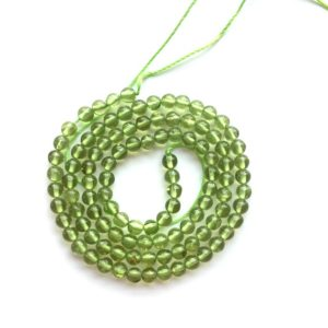 Shop Peridot Round Beads! Peridot Grade A Round Natural Gemstone Bead 4mm 15''L   Natural genuine round Peridot beads for beading and jewelry making.  #jewelry #beads #beadedjewelry #diyjewelry #jewelrymaking #beadstore #beading #affiliate #ad