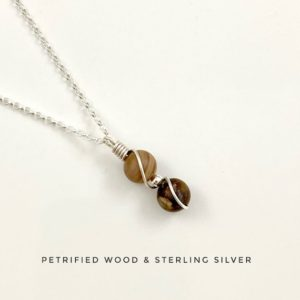 Shop Petrified Wood Pendants! Tiny Petrified Wood Necklace, Sterling Silver, Wooden Pendant, Nature Necklace | Natural genuine Petrified Wood pendants. Buy crystal jewelry, handmade handcrafted artisan jewelry for women.  Unique handmade gift ideas. #jewelry #beadedpendants #beadedjewelry #gift #shopping #handmadejewelry #fashion #style #product #pendants #affiliate #ad