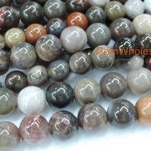 """15.5"""" 12mm/14mm/16mm/18mm Wood fossil stone round beads,brown fossilized wood stone, Petrified wood DIY jewelry beads, jewelry supply 