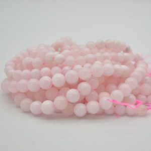 """Shop Pink Calcite Beads! High Quality Grade A Pink Calcite (dyed) Semi-precious Gemstone Round Beads – 8mm, 10mm sizes – Approx 15.5"""" strand 
