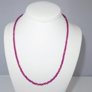 Shop Pink Sapphire Necklaces! Pink Sapphire Necklace, Sapphire Necklace, Genuine Pink Sapphire Necklace, September Birthstone   Natural genuine Pink Sapphire necklaces. Buy crystal jewelry, handmade handcrafted artisan jewelry for women.  Unique handmade gift ideas. #jewelry #beadednecklaces #beadedjewelry #gift #shopping #handmadejewelry #fashion #style #product #necklaces #affiliate #ad