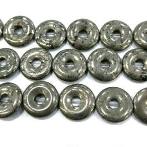 Shop Pyrite Jewelry! pyrite donuts beads – gemstone donut pendants – circle gesmtone beads – donuts necklace beads – jewelry making donut pendant -15inch | Natural genuine Pyrite jewelry. Buy crystal jewelry, handmade handcrafted artisan jewelry for women.  Unique handmade gift ideas. #jewelry #beadedjewelry #beadedjewelry #gift #shopping #handmadejewelry #fashion #style #product #jewelry #affiliate #ad