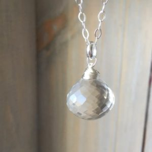 Shop Quartz Crystal Necklaces! Clear quartz gemstone necklace~gemstone pendant~ large gemstone layering necklace~crystal necklace~ silver and gemstone necklace | Natural genuine Quartz necklaces. Buy crystal jewelry, handmade handcrafted artisan jewelry for women.  Unique handmade gift ideas. #jewelry #beadednecklaces #beadedjewelry #gift #shopping #handmadejewelry #fashion #style #product #necklaces #affiliate #ad