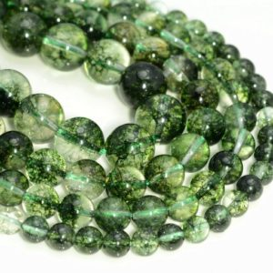 Shop Quartz Crystal Round Beads! Crystal Quartz Gemstone Phantom Green Grade AAA 6mm 8mm 10mm 12mm Round Loose Beads (A227) | Natural genuine round Quartz beads for beading and jewelry making.  #jewelry #beads #beadedjewelry #diyjewelry #jewelrymaking #beadstore #beading #affiliate #ad