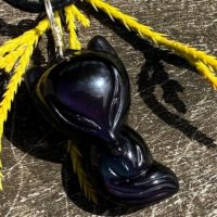 Rainbow Obsidian Fox Healing Stone Necklace For The Base Chakra And Aura With Positive Healing Energy! | Natural genuine Gemstone jewelry. Buy crystal jewelry, handmade handcrafted artisan jewelry for women.  Unique handmade gift ideas. #jewelry #beadedjewelry #beadedjewelry #gift #shopping #handmadejewelry #fashion #style #product #jewelry #affiliate #ad