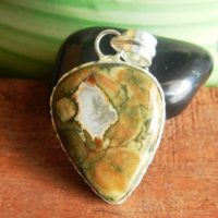 Natural Rainforest Jasper Pendant, gemstone Pendant, sterling Silver Pendant, handmade Jewelry, womens Pendant, australian Rainforest Pendant, #73 | Natural genuine Gemstone jewelry. Buy crystal jewelry, handmade handcrafted artisan jewelry for women.  Unique handmade gift ideas. #jewelry #beadedjewelry #beadedjewelry #gift #shopping #handmadejewelry #fashion #style #product #jewelry #affiliate #ad