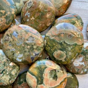 Rain Forest Jasper Rhyolite Palm Stone Earth Wisdom Nature Communication Natural Healing High Vibration Reiki | Natural genuine stones & crystals in various shapes & sizes. Buy raw cut, tumbled, or polished gemstones for making jewelry or crystal healing energy vibration raising reiki stones. #crystals #gemstones #crystalhealing #crystalsandgemstones #energyhealing #affiliate #ad