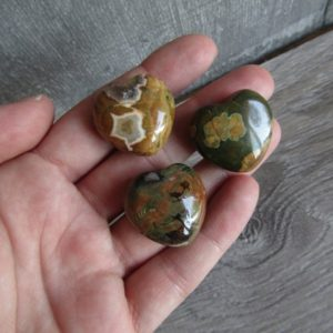 Rhyolite Rainforest Jasper Stone Shaped Heart K275 | Natural genuine stones & crystals in various shapes & sizes. Buy raw cut, tumbled, or polished gemstones for making jewelry or crystal healing energy vibration raising reiki stones. #crystals #gemstones #crystalhealing #crystalsandgemstones #energyhealing #affiliate #ad