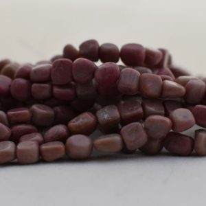 """Shop Rhodonite Chip & Nugget Beads! High Quality Grade A Natural Chinese Rhodonite Semi-precious Gemstone Pebble Tumbled Stone Nugget Beads Approx 7mm-10mm – 15"""" Strand   Natural genuine chip Rhodonite beads for beading and jewelry making.  #jewelry #beads #beadedjewelry #diyjewelry #jewelrymaking #beadstore #beading #affiliate #ad"""