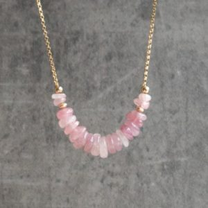 Shop Rose Quartz Necklaces! Rose Quartz Necklace, Raw Rose Quartz, Crystal Necklace, Pink Quartz Heart Chakra Necklace, Jewelry Gift for Women, Gift for Mom   Natural genuine Rose Quartz necklaces. Buy crystal jewelry, handmade handcrafted artisan jewelry for women.  Unique handmade gift ideas. #jewelry #beadednecklaces #beadedjewelry #gift #shopping #handmadejewelry #fashion #style #product #necklaces #affiliate #ad