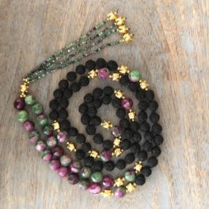 Shop Ruby Necklaces! Black Rudraksha necklace for women,japa mala beads 108,prayer beads 108 mala necklace,ruby fusschite mala necklace for men,108 mala necklace | Natural genuine Ruby necklaces. Buy handcrafted artisan men's jewelry, gifts for men.  Unique handmade mens fashion accessories. #jewelry #beadednecklaces #beadedjewelry #shopping #gift #handmadejewelry #necklaces #affiliate #ad