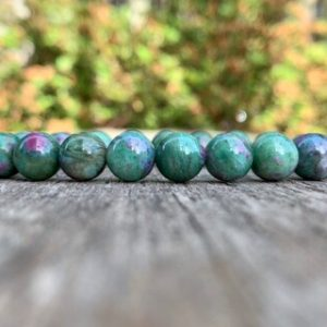 Shop Ruby Zoisite Bracelets! Chunky High Grade Ruby Zoisite Bracelet 9mm Anyolite Beaded Gemstone Bracelet Red Ruby in Green Zoisite Bracelet Stack Bracelet   Natural genuine Ruby Zoisite bracelets. Buy crystal jewelry, handmade handcrafted artisan jewelry for women.  Unique handmade gift ideas. #jewelry #beadedbracelets #beadedjewelry #gift #shopping #handmadejewelry #fashion #style #product #bracelets #affiliate #ad