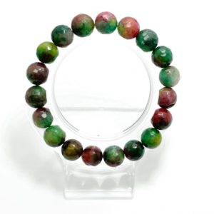 Shop Ruby Zoisite Bracelets! Ruby Zoisite Dyed Faceted Round 10mm Beads Gemstone Beads Stretch Elastic Cord Bracelet Accessories – PGB118   Natural genuine Ruby Zoisite bracelets. Buy crystal jewelry, handmade handcrafted artisan jewelry for women.  Unique handmade gift ideas. #jewelry #beadedbracelets #beadedjewelry #gift #shopping #handmadejewelry #fashion #style #product #bracelets #affiliate #ad
