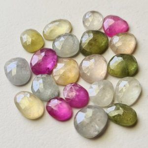 Shop Sapphire Cabochons! 10-11mm Pink / Blue / Yellow / Green Sapphire Rose Cut Cabochons Natural Sapphire Flat Back Cabochon 5 Pcs Loose Sapphire for Jewelry-PDG317 | Natural genuine stones & crystals in various shapes & sizes. Buy raw cut, tumbled, or polished gemstones for making jewelry or crystal healing energy vibration raising reiki stones. #crystals #gemstones #crystalhealing #crystalsandgemstones #energyhealing #affiliate #ad