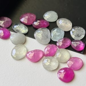 Shop Sapphire Cabochons! 8-10mm Pink / Blue Sapphire Rose Cut Cabochons Natural Multi Sapphire Flat Back Cabochon 5 Pcs Loose Sapphire for Jewelry – PDG318 | Natural genuine stones & crystals in various shapes & sizes. Buy raw cut, tumbled, or polished gemstones for making jewelry or crystal healing energy vibration raising reiki stones. #crystals #gemstones #crystalhealing #crystalsandgemstones #energyhealing #affiliate #ad