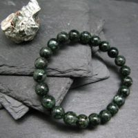 Seraphinite Clinochlore Genuine Bracelet ~ 7 Inches ~ 8mm Round Beads   Natural genuine Gemstone jewelry. Buy crystal jewelry, handmade handcrafted artisan jewelry for women.  Unique handmade gift ideas. #jewelry #beadedjewelry #beadedjewelry #gift #shopping #handmadejewelry #fashion #style #product #jewelry #affiliate #ad
