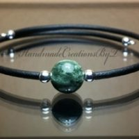 Russian Seraphinite Bracelet, 8mm Gemstone, Silver, Green, Black, Womens, Simple Cuff Style Jewelry | Natural genuine Gemstone jewelry. Buy crystal jewelry, handmade handcrafted artisan jewelry for women.  Unique handmade gift ideas. #jewelry #beadedjewelry #beadedjewelry #gift #shopping #handmadejewelry #fashion #style #product #jewelry #affiliate #ad