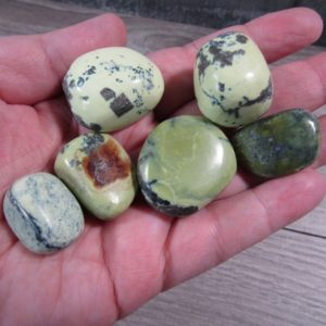 Shop Tumbled Serpentine Crystals & Pocket Stones! Serpentine w Magnatite Tumbled Stone Medium / Large T213   Natural genuine stones & crystals in various shapes & sizes. Buy raw cut, tumbled, or polished gemstones for making jewelry or crystal healing energy vibration raising reiki stones. #crystals #gemstones #crystalhealing #crystalsandgemstones #energyhealing #affiliate #ad