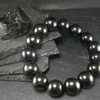 Shungite Genuine Bracelet ~ 7 Inches ~ 14mm Round Beads   Natural genuine Gemstone jewelry. Buy crystal jewelry, handmade handcrafted artisan jewelry for women.  Unique handmade gift ideas. #jewelry #beadedjewelry #beadedjewelry #gift #shopping #handmadejewelry #fashion #style #product #jewelry #affiliate #ad