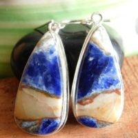Blue Sodalite Earring, Sterling Silver Earring, women's Earring, stone Earring, handmade Earring, girls Earring, gemstone Earring, dangle Earring, | Natural genuine Gemstone jewelry. Buy crystal jewelry, handmade handcrafted artisan jewelry for women.  Unique handmade gift ideas. #jewelry #beadedjewelry #beadedjewelry #gift #shopping #handmadejewelry #fashion #style #product #jewelry #affiliate #ad