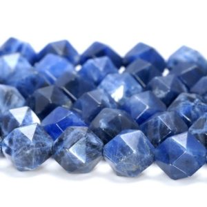 """Shop Sodalite Faceted Beads! 5-6MM Blue Sodalite Beads Star Cut Faceted Grade AAA Genuine Natural Gemstone Loose Beads 14.5"""" BULK LOT 1,3,5,10 and 50 (80005158-M17) 